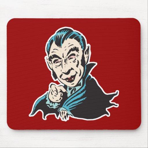 creepy vampire mouse mat
