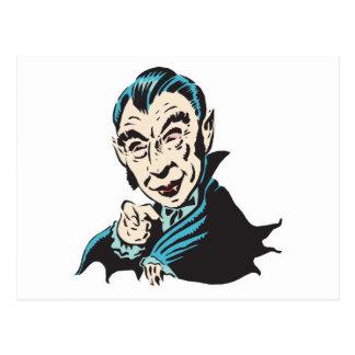 creepy vampire postcard