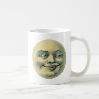 Creepy Victorian Moon Guy Mugs