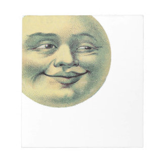Creepy Victorian Moon Guy Note Pads
