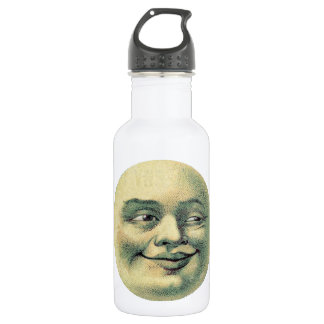 Creepy Victorian Moon Guy Stainless Steel Water Bottle