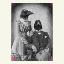 Creepy Victorian Raven Family Halloween Party Invitation