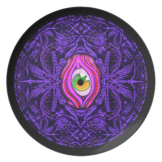 Creepy Vintage Eye Design Dinner Plate