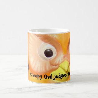 Creepy Vintage Owl Coffee Mug