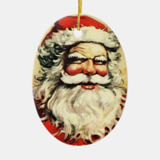 Creepy Vintage Santa Claus Ornament