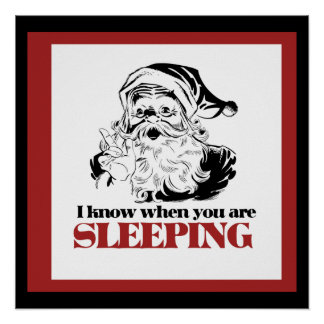 Creepy Vintage Santa Print