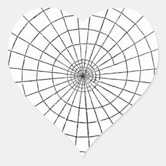 Creepy vintage spider web for Halloween Heart Sticker