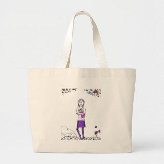 Creepy walk large tote bag