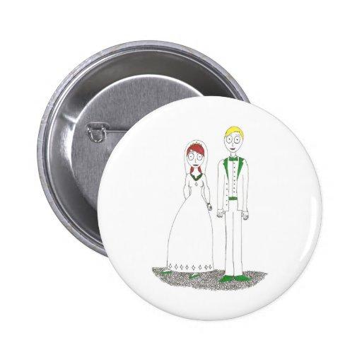 Creepy Wedding Irish Buttons