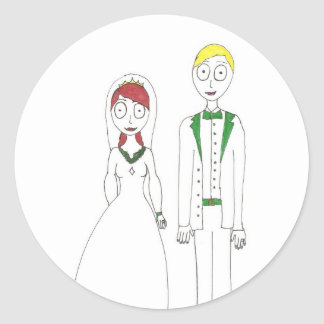 Creepy Wedding Irish Classic Round Sticker