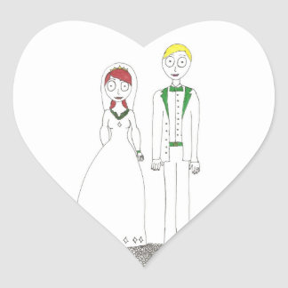 Creepy Wedding Irish Heart Sticker