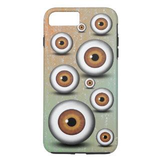 Creepy Weird Brown Eyeballs Iris Cool Eyephone iPhone 8 Plus/7 Plus Case