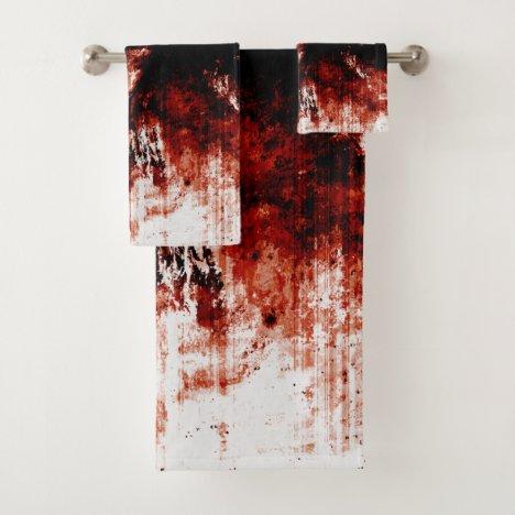 Creepy Zombie Bloody Bathroom Towel Set