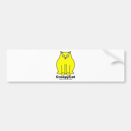 CreepyCat Bumper Stickers