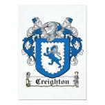 Creighton Family Crest Personalized Invite