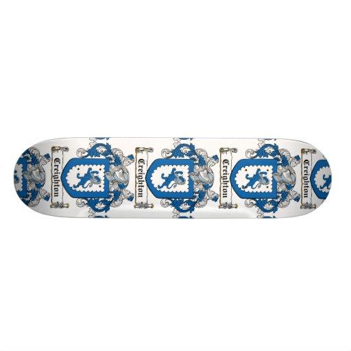 Creighton Family Crest Skate Board Deck