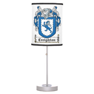 Creighton Family Crest Table Lamp