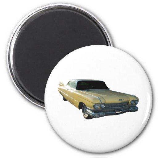 Crema 1959 de Cadillac Imán Redondo 5 Cm