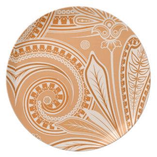 """Crema anaranjada del """"pañuelo"""" plato de comida"""