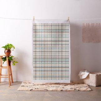 Crema, blanco, azul, tela de la tela escocesa de telas
