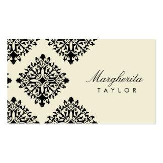 Crema de 311 Margherita y damasco de Blanc Plantillas De Tarjeta De Negocio