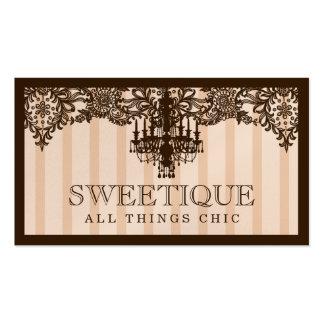 Crema de 311 Sweetique Brown y lámpara del café Tarjetas De Visita