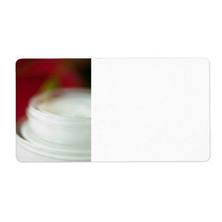 Crema de alimentación de la piel etiqueta de envío