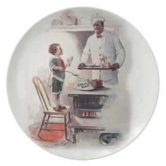 Crema de la placa de pared de la cocina del trigo plato de cena