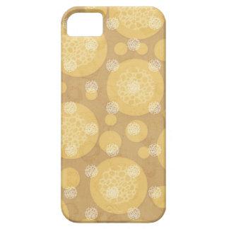 Crema de los lunares y marrón claro flotantes iPhone 5 Case-Mate cobertura