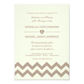 """Crema de marfil e invitaciones de color topo del invitación 4.5"""" x 6.25"""""""