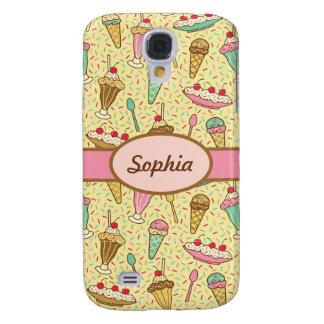 Crema de Vanilla Ice Funda Para Samsung Galaxy S4