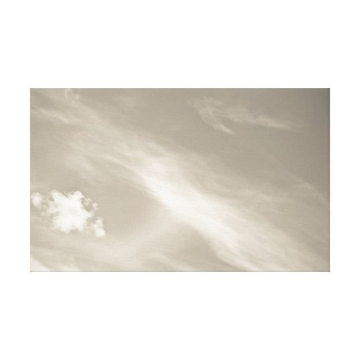Crema del cielo lona envuelta para galerias