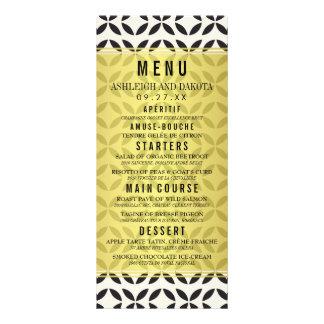 Crema del menú el | del boda y modelo geométrico diseños de tarjetas publicitarias