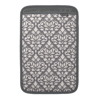 Crema del modelo del damasco de la voluta en gris funda para macbook air
