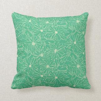crema del verde del stellata de la magnolia cojín
