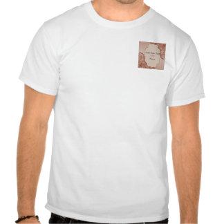 Crema del vintage y voluta afiligranada del canela camiseta