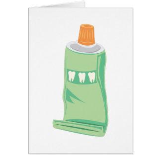 Crema dental tarjeta de felicitación
