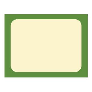 Crema en verde tarjetas postales