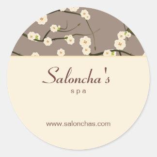 Crema floral del pegatina de la flor de cerezo del