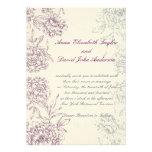 Crema floral elegante del vino de las invitaciones anuncios personalizados
