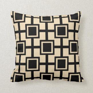 Crema geométrica de moda de la rejilla el | de los almohadas