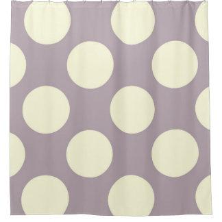Crema grande de la púrpura de los puntos de los cortina de baño