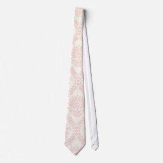 crema ligera y damasco rosado corbatas personalizadas