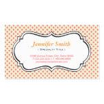 Crema linda y lunares rosados - elegante simple plantilla de tarjeta de negocio