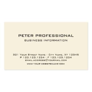 Crema profesional moderna de la marfil de la tarje tarjetas de visita