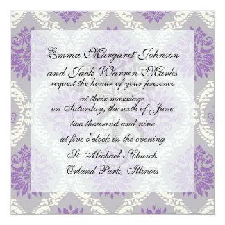 crema púrpura y damasco gris del royale anuncio personalizado