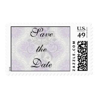 crema púrpura y damasco gris del royale franqueo