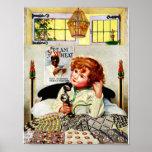 Crema RARA del vintage del anuncio del trigo Poster