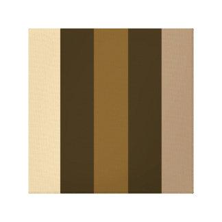 Crema retra ancha/marrones de las rayas verticales lona estirada galerias