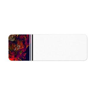 Crema roja de la tarde abstracta de encargo y etiqueta de remite